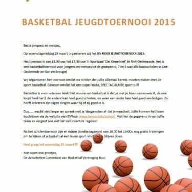 Basketbal scholentoernooi BV Rooi