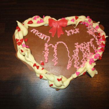 Chocoladehart voor Moederdag
