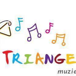 """triangeltje """"muziek op schoot"""""""