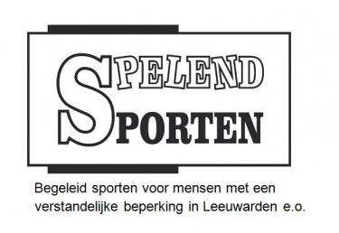 Logo Spelend Sporten, sport voor mensen met een (licht) verstandelijke beperking.